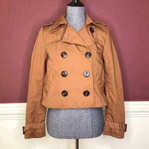 Divided brown cropped utility jacket size 4